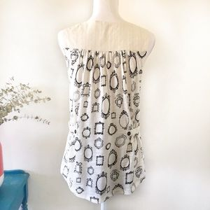 Anthropologie Tops - Anthropologie | Picture Frame Print Blouse Medium